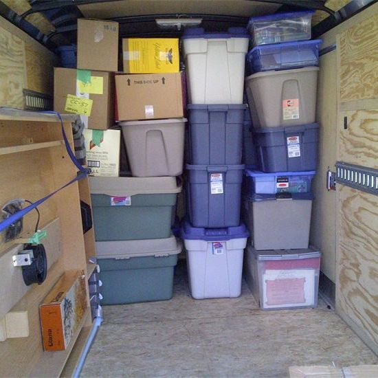 trailer, moving, packed