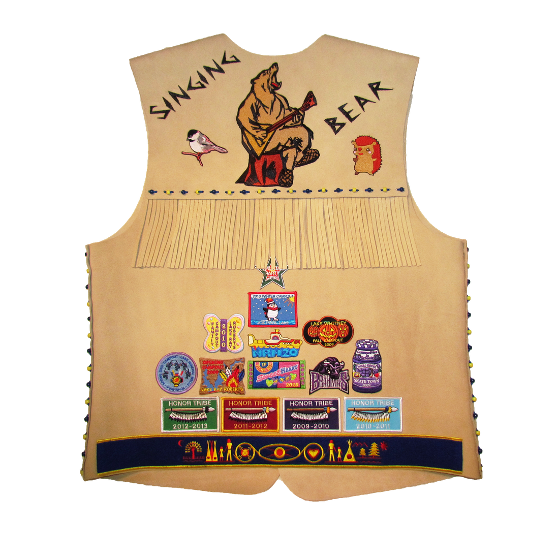vest, suede, indian, princess, guides, DFW, event, custom, embroidery, patch, assembly, extra, service, game, camping, camp
