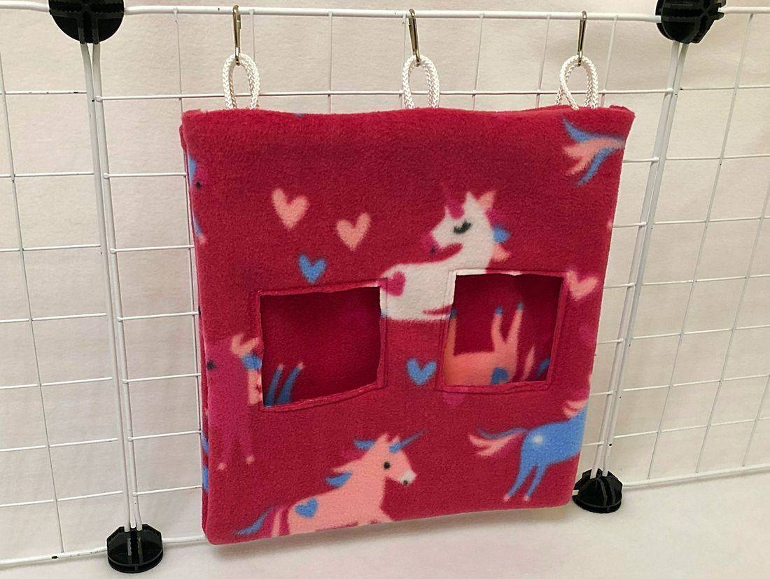Hay Bag Unicorn cerise for guinea pig