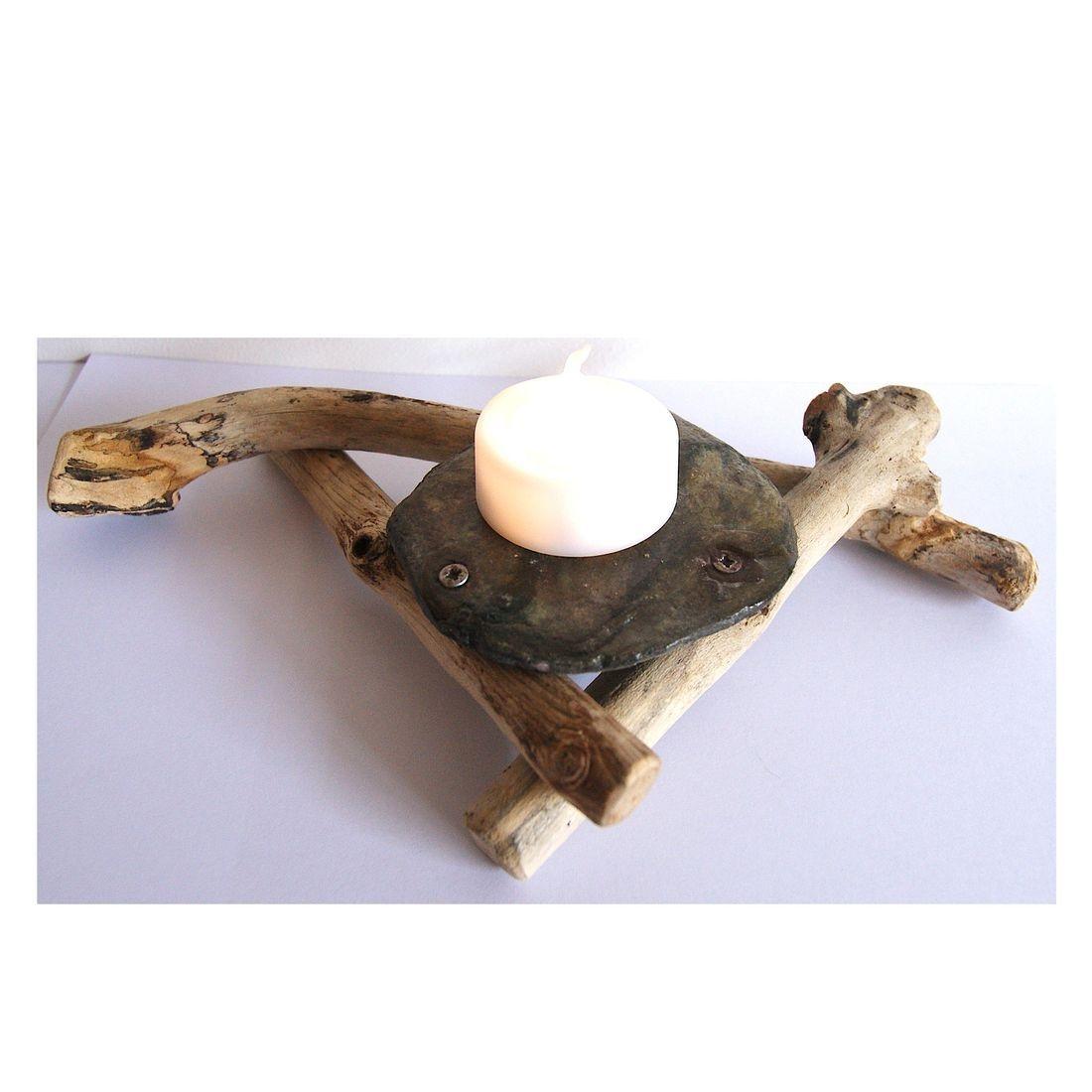 Driftwood candle tea light holder 11