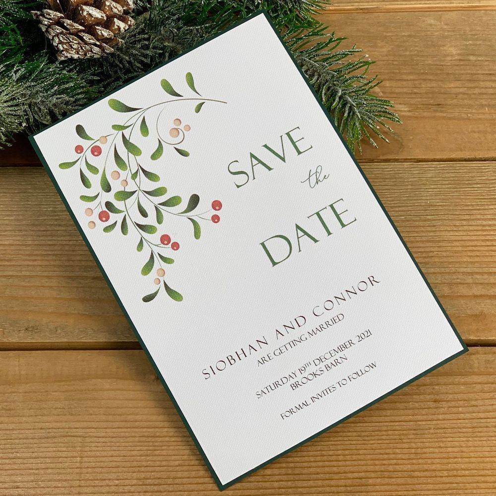 Christmas Wedding Save the Date Card
