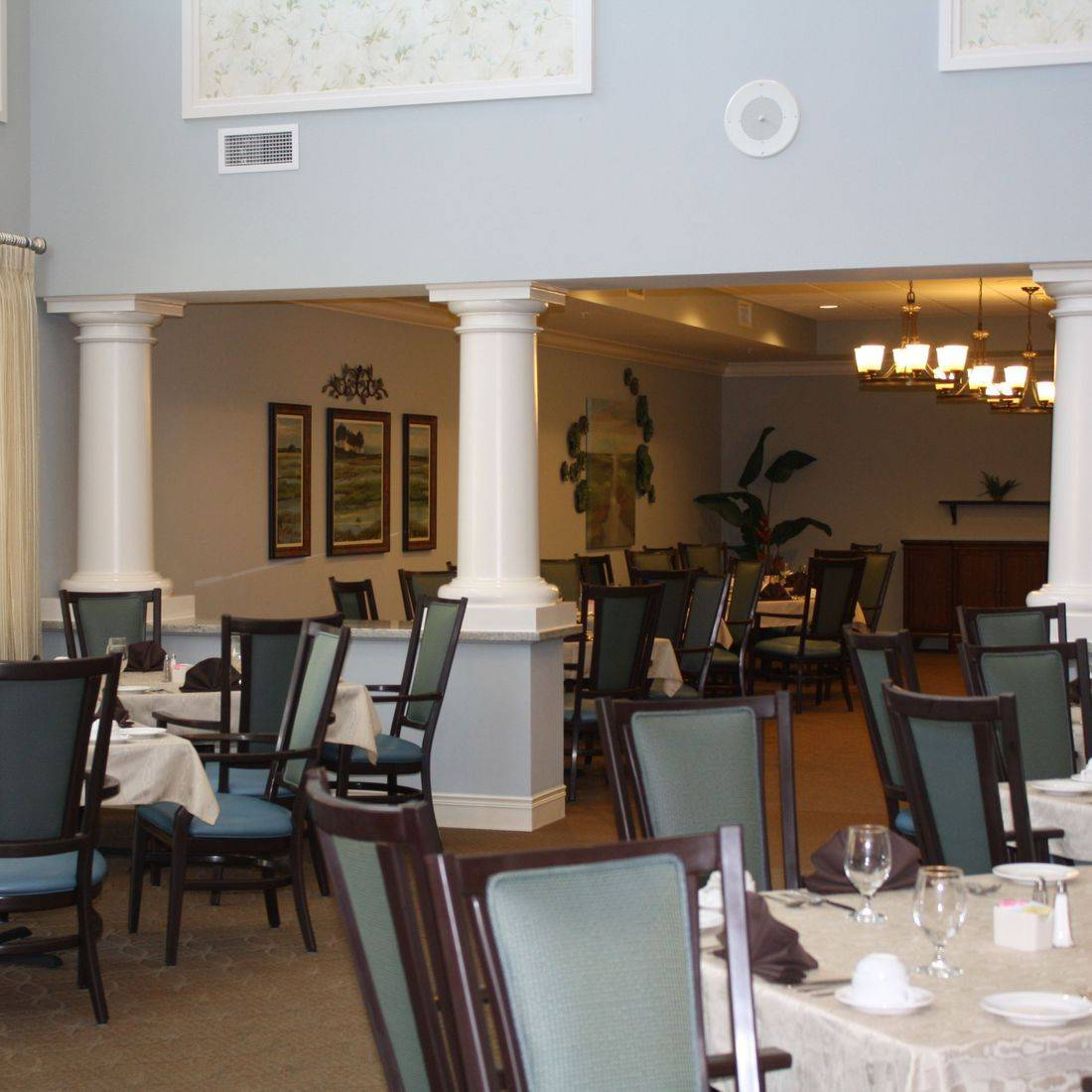 rand Dining Room atSumter Place by the Creative Design Team