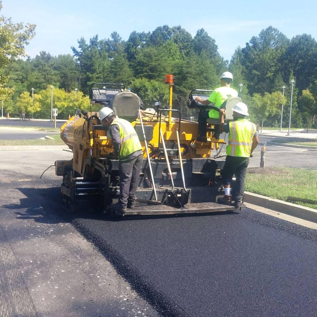 asphalt paving of parking lot