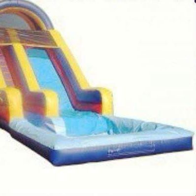 16ft Water Slide with pool at the bottom $185 plus delivery fee for 3 hours or $225 for all day including delivery