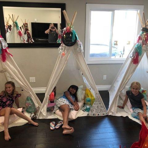 Kids parties, kids events, kids party planner, party rentals, teepee rentals, sleepover, birthday party, Newport Beach, Orange County