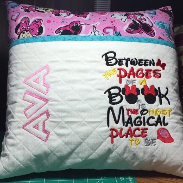 Custom Minnie Mouse Reading Pillow