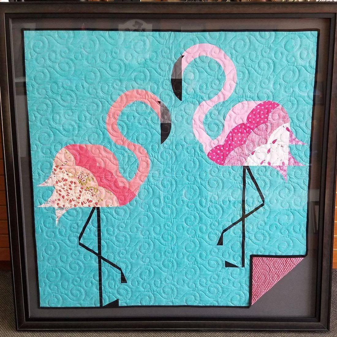 Sunset Framer quilts custom framed
