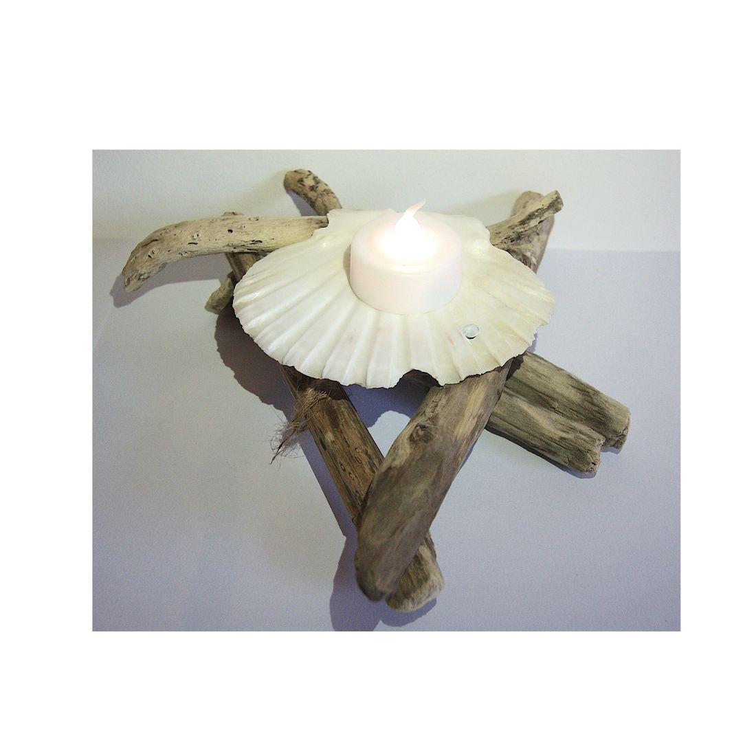 Driftwood candle tea light holder 7