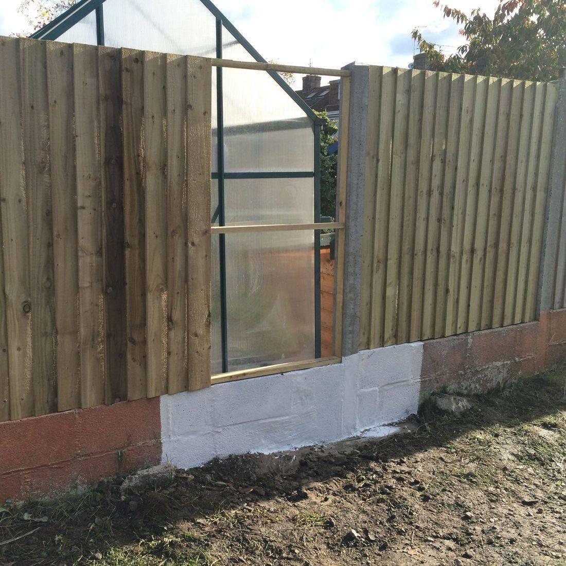 fence rapair bristol car damaged panel edge
