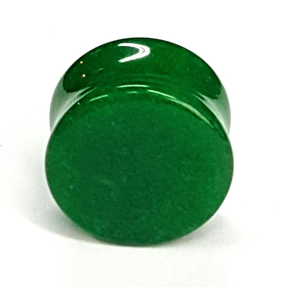 Green quartz natural stone plug available at Kazbah online and our Leicester City Centre store