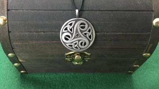 Celtic Triskelion Pendant, Celtic, Irish, Iron age, Shield Ravens, Larp