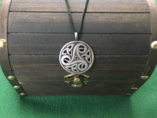 Celtic Triskelion Pendant, Celtic, Irish, Iron age, Shield Ravens, Larp