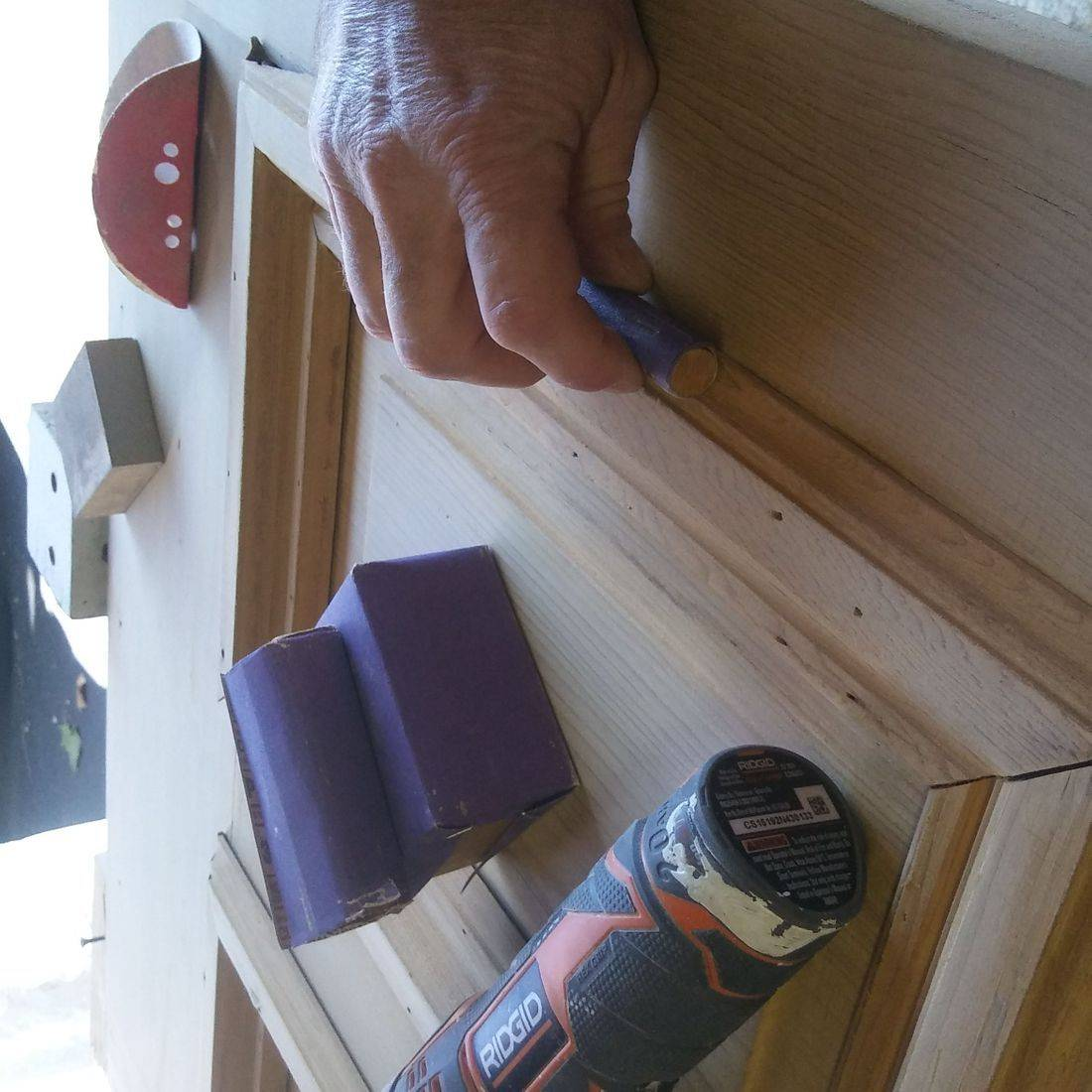 Wood Door Refinishing, door restoration, door repair, hardware repair  Cincinnati Ohio