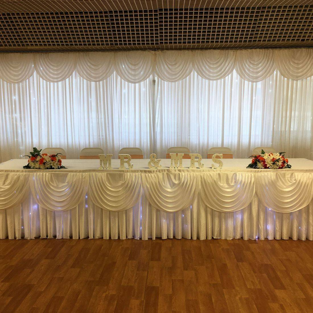 Starlight Curtain and Starlight Top Table Skirt