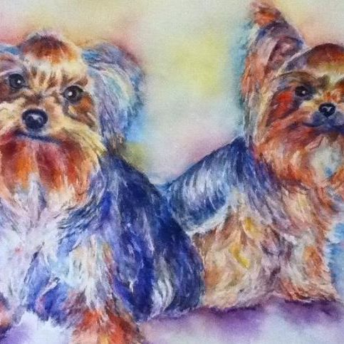 DOG PORTRAITS COMMISSION BY MARY SAIFELDEN