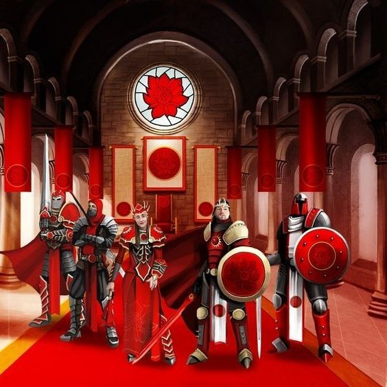 Red faction throne room