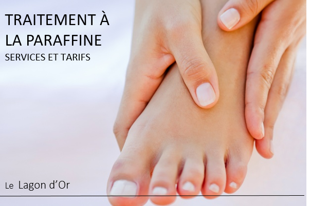Esthétique esthetics estheticienne  gatineau traitement a la paraffine foot care hand care soin des mains pieds le lagon d'or lelagondor