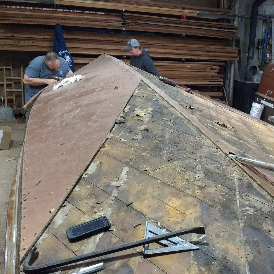 wood boat bottom replacement