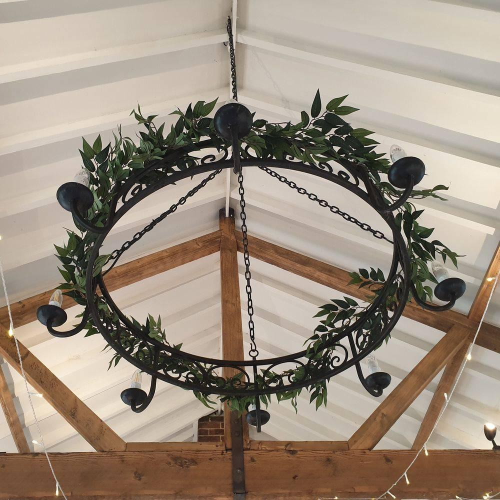 Winter wedding reception details at  Burley Manor Barn