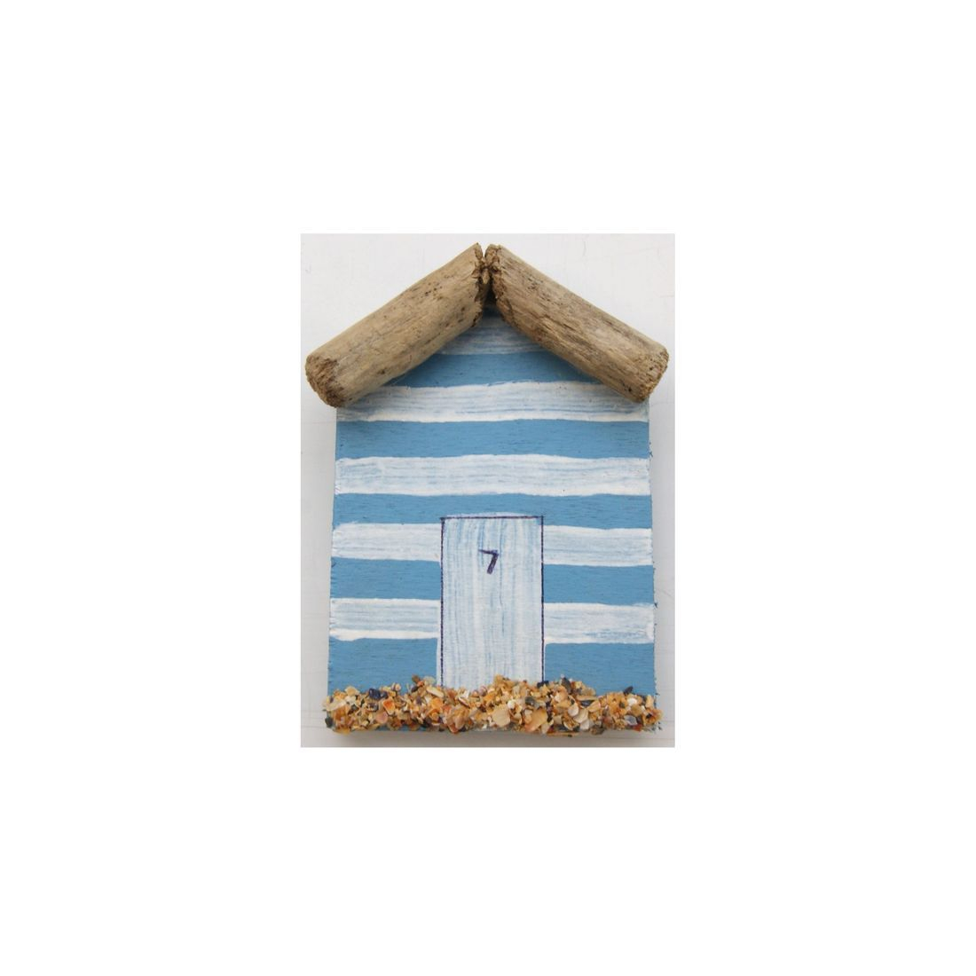 Fridge magnet driftwood beach hut