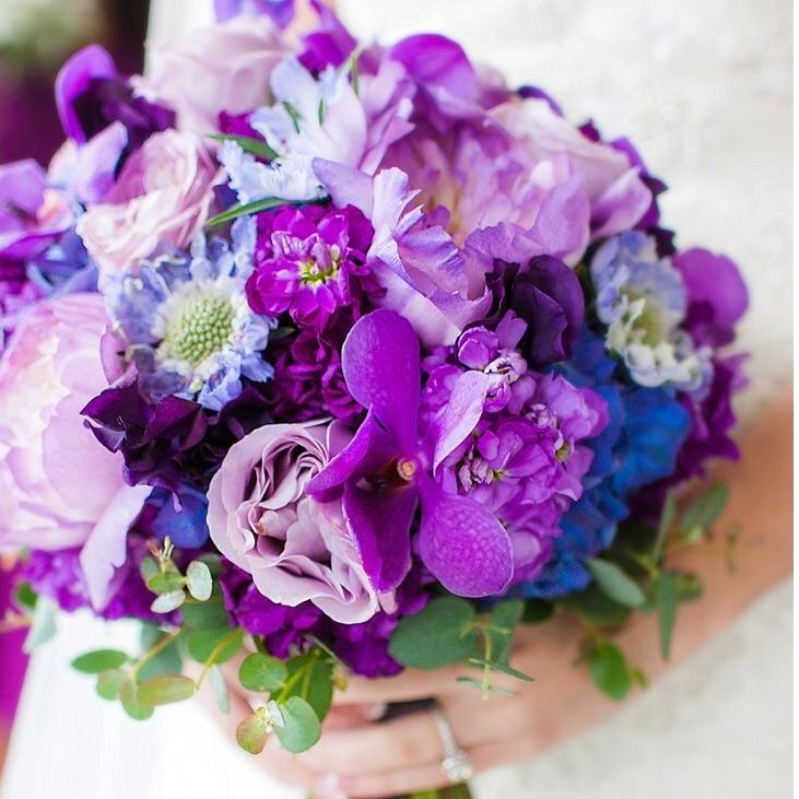 purpe bouquet,