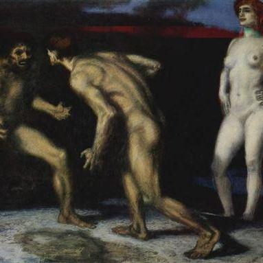 Von Stuck, men fighting over woman