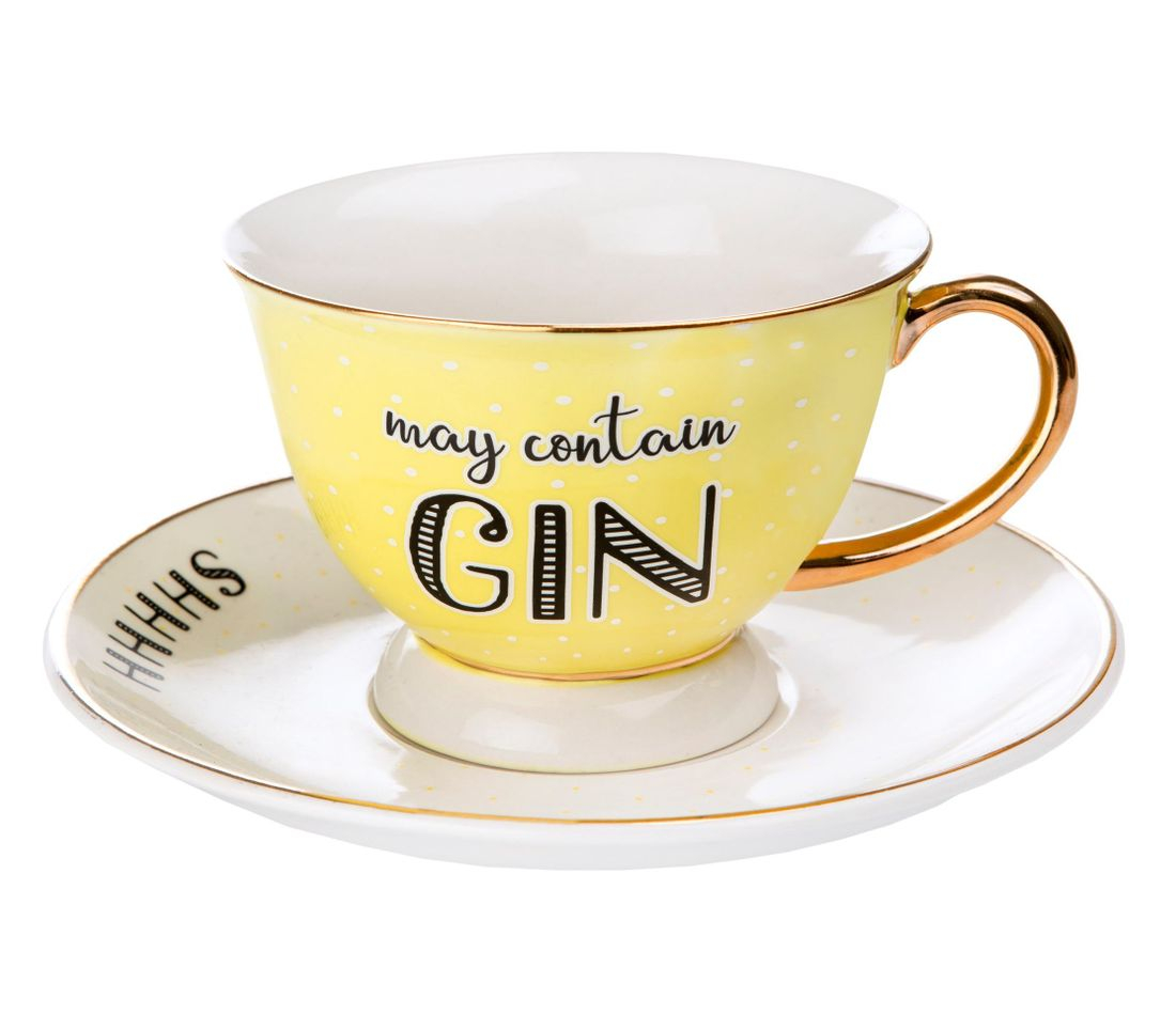 gin cup and saucer