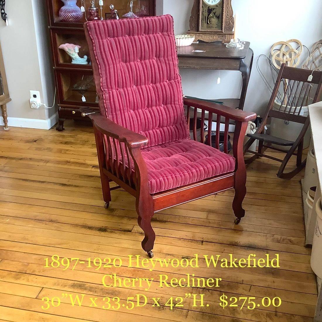 1897-1920 Heywood Wakefield Cherry Recliner   $275.00