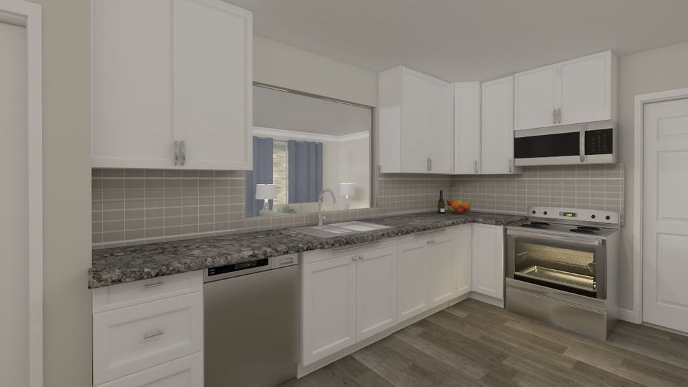 kitchen, interior design, white cabinets