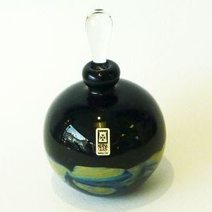 MDINA GLASS, perfume bottle, wave effect detail
