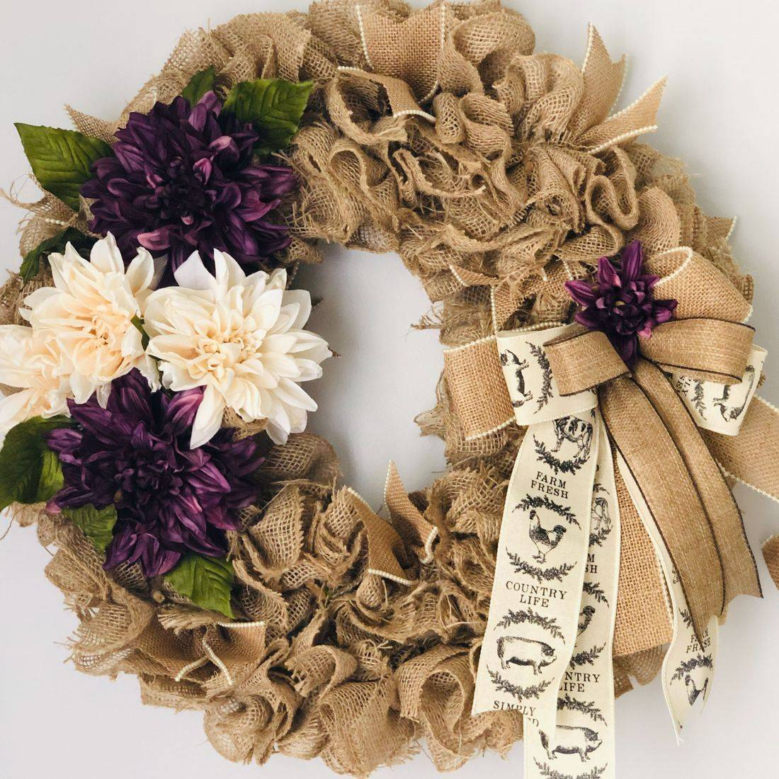 Burlap Autumn Wreath