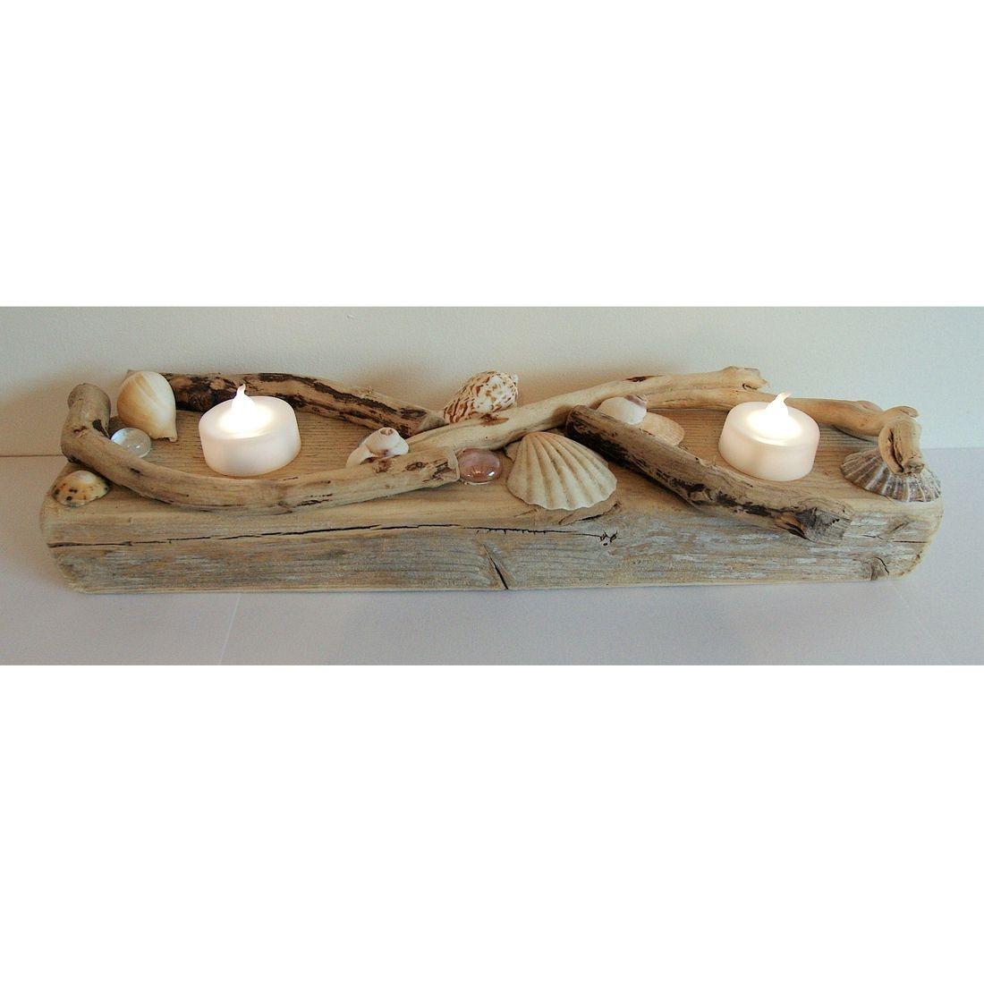 Driftwood large candle tea light holder 5