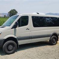 A 10 Passenger Sprinter from Napa Sonoma Wine Tasting Driver.
