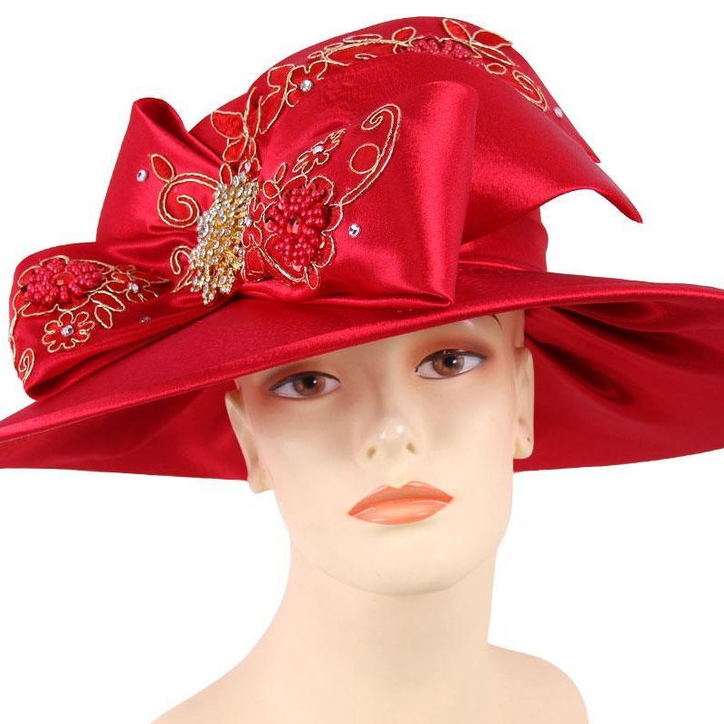 Satin year round wide brim