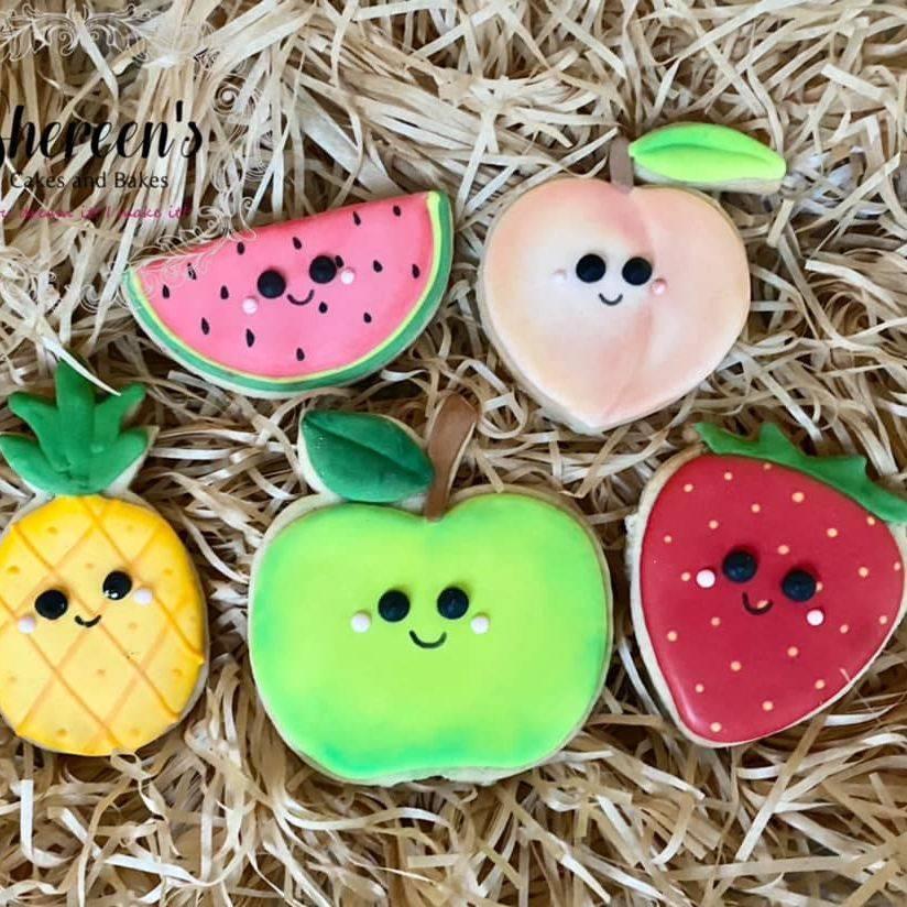 Kawaii fruit cookies