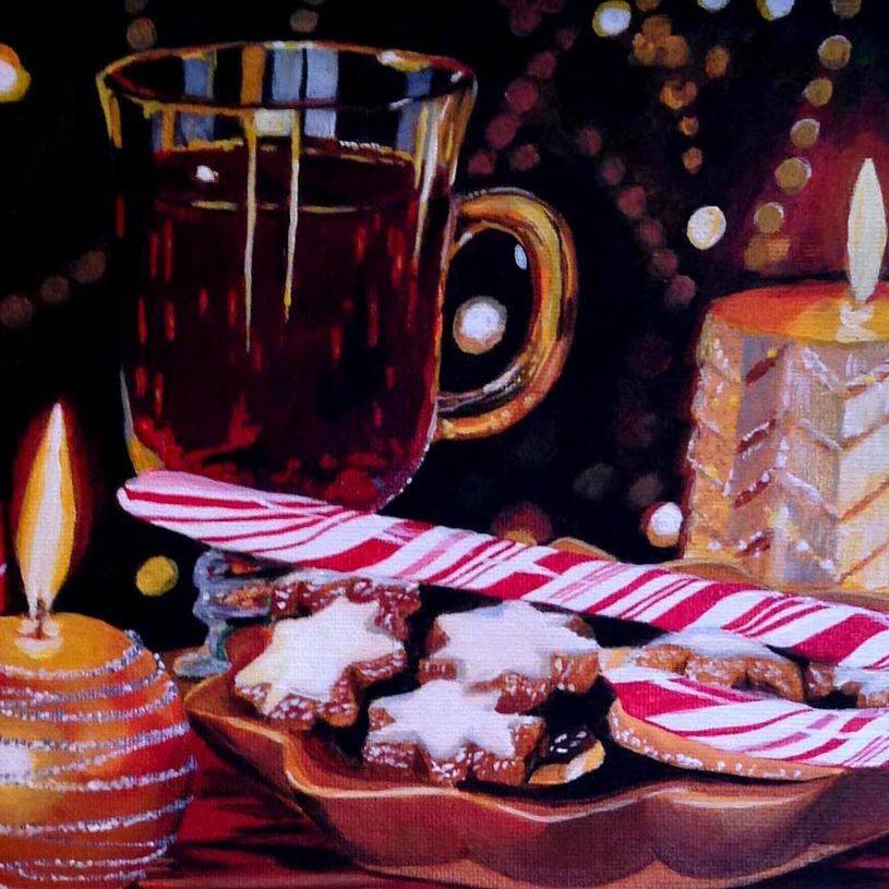 DVincent-Christmas Cookies, acrylic 8x10