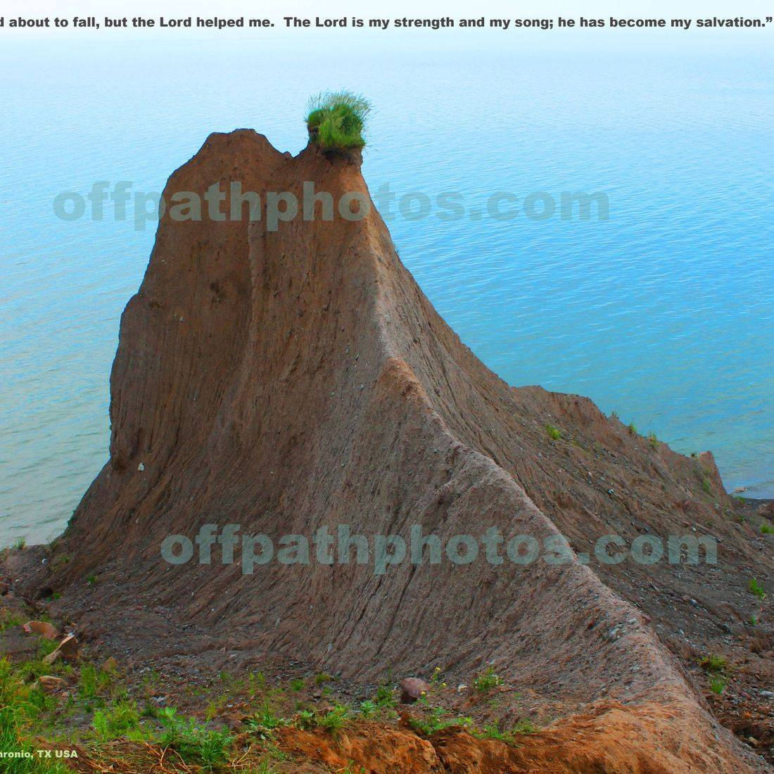 photography, water, scripture, Lord, God, Psalms, bluffs, nature, salvation, strength
