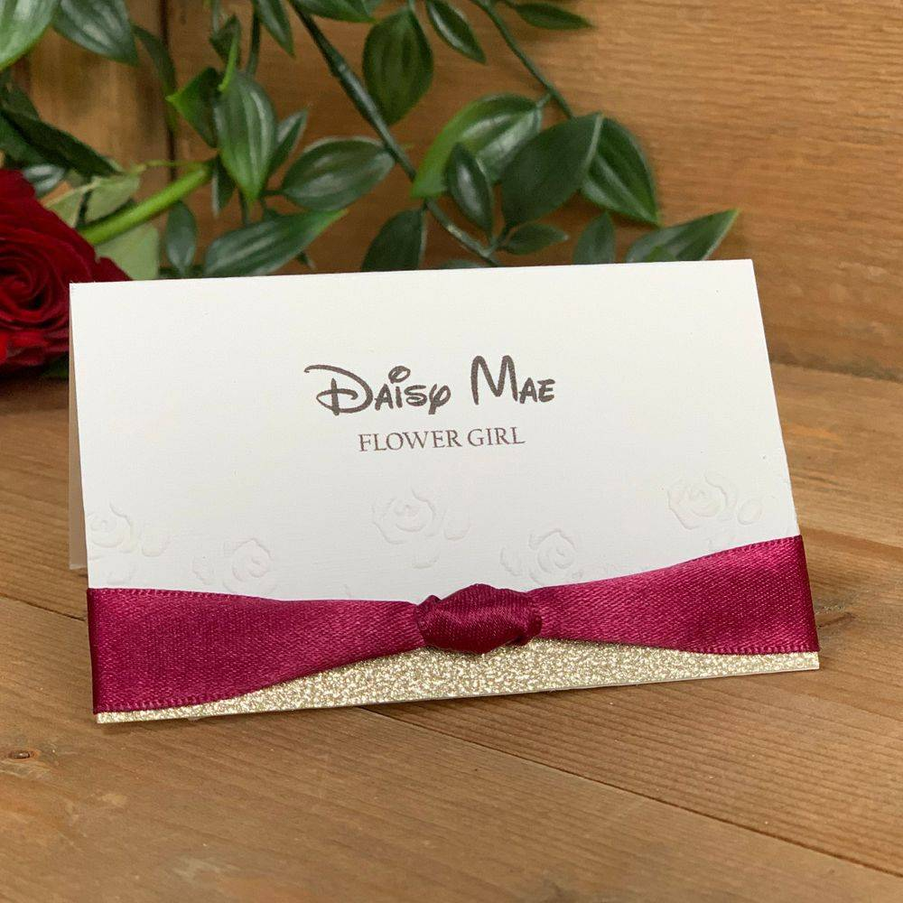 Disney Wedding Stationery, Beauty and the beast style place names