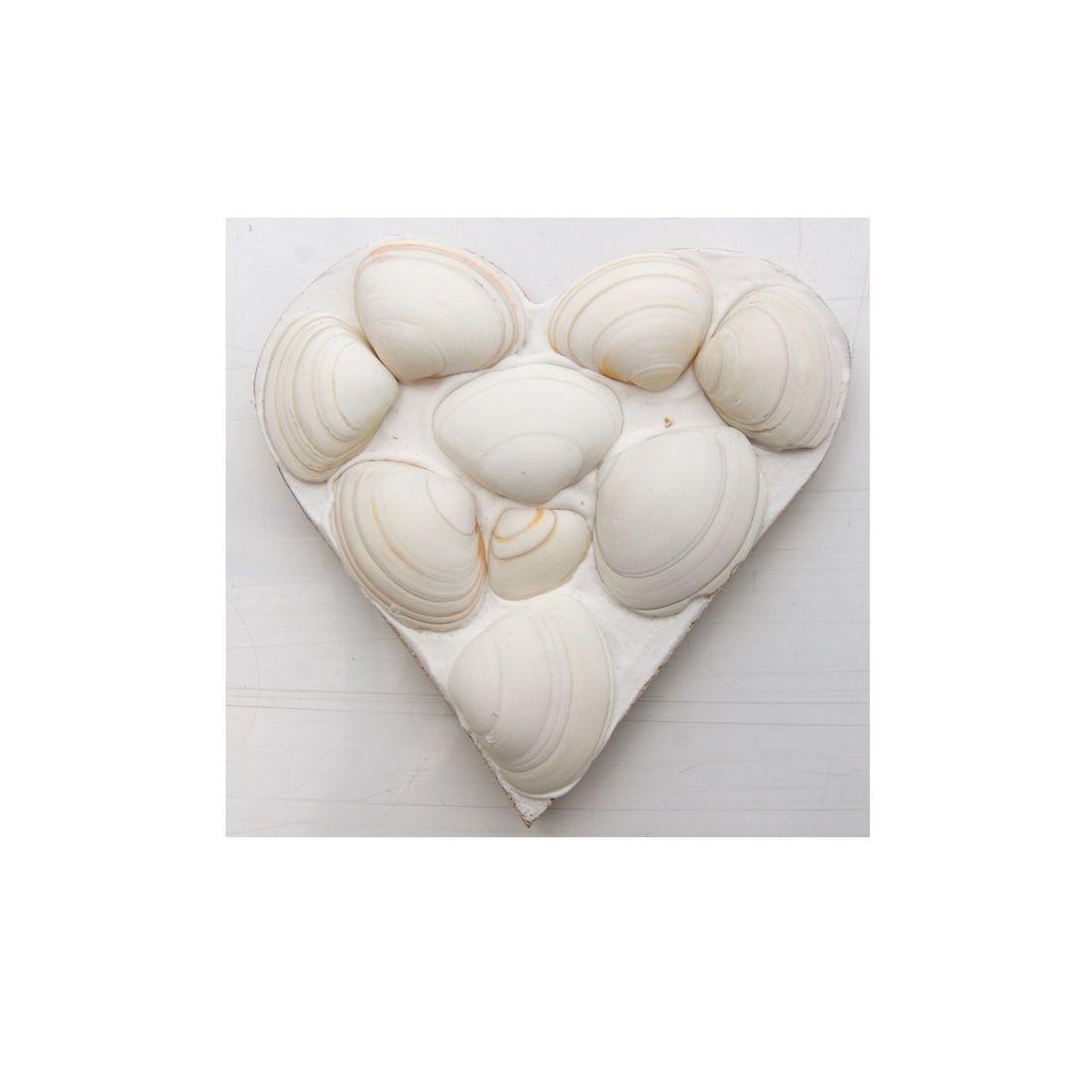 Fridge magnet heart white