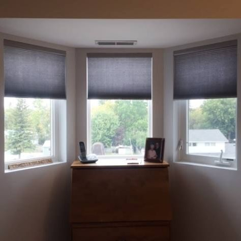 Graber Cordless Lift Cellular Shades - Bay window