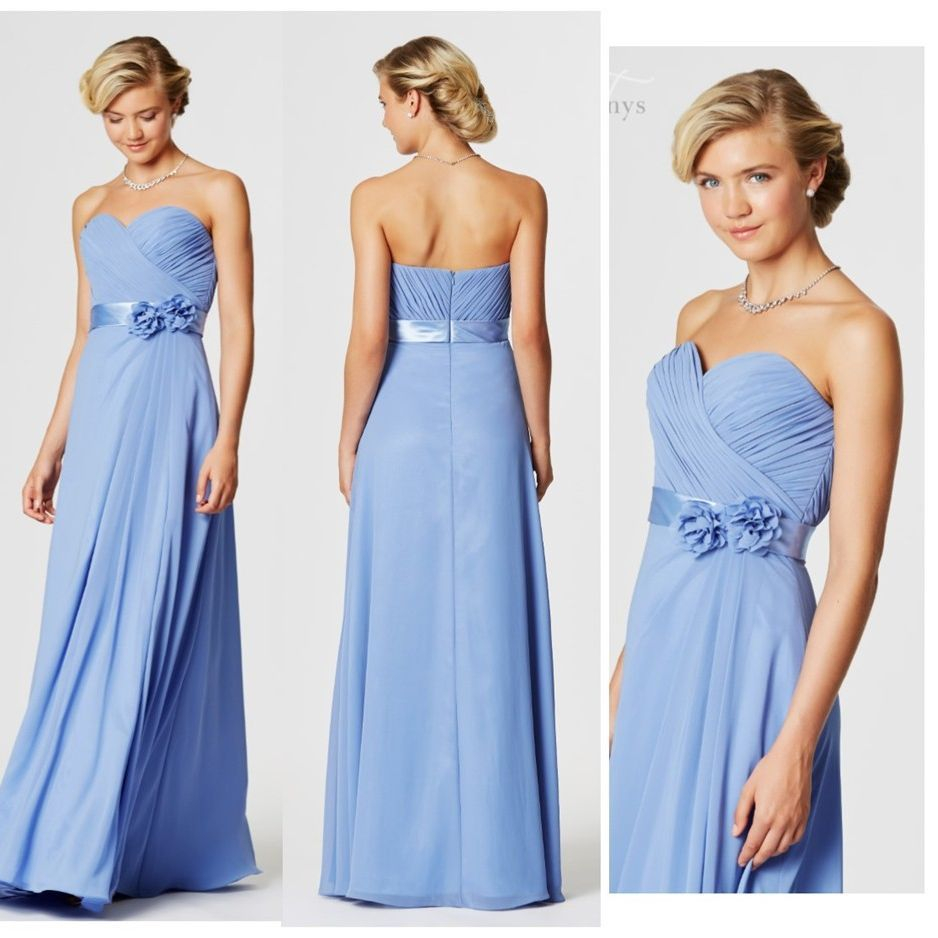 Cornflower Chiffon with satin belt
