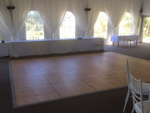 dance floor hire party wedding  stage festoon