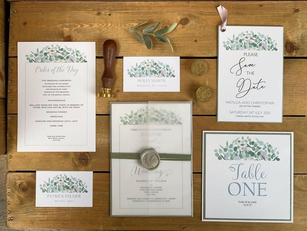 Wedding Invitations with Pink Wax Seal  Invitations