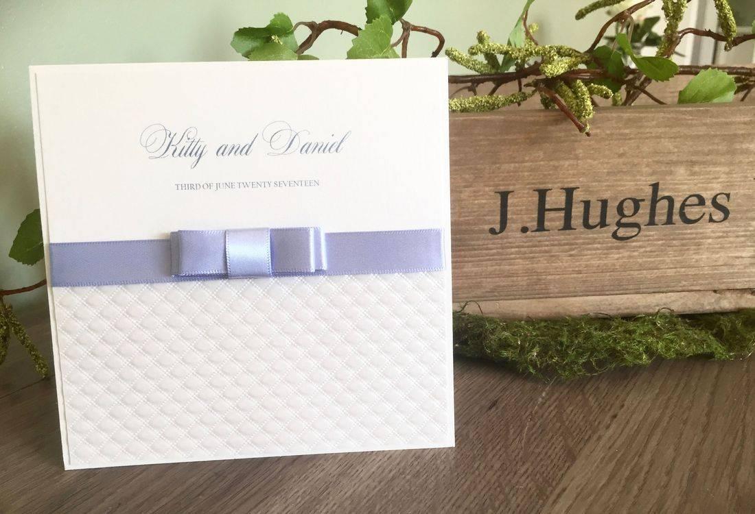 Luxury Wedding Invitation with Dior Bow