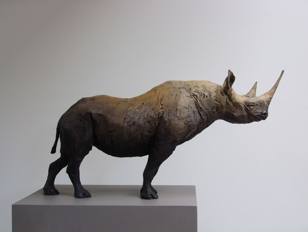 Rhinoceros. Bronze Sculpture