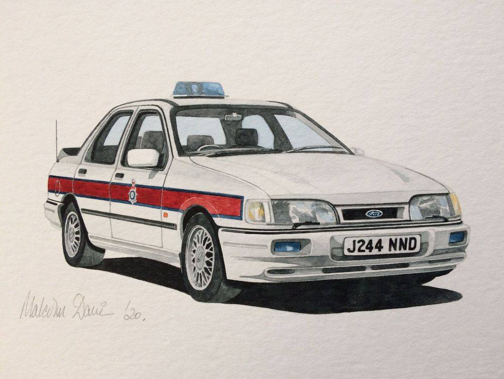 Ford Sierra Sapphire Cosworth in GMP colours (Watercolour) - Finished 2020 : Sold