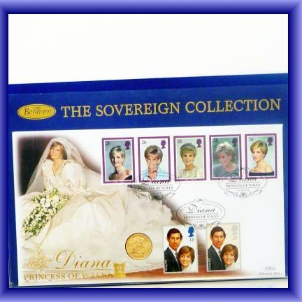 GOLD COINS/1981 1st day cover/Lady Diana