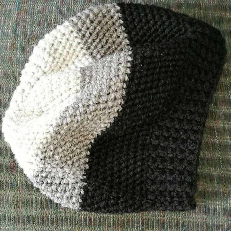 Mens Beanie Crochet Acrylic