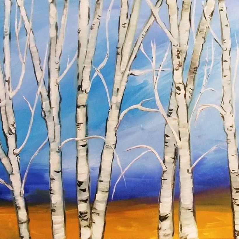 Birch on Bright Background