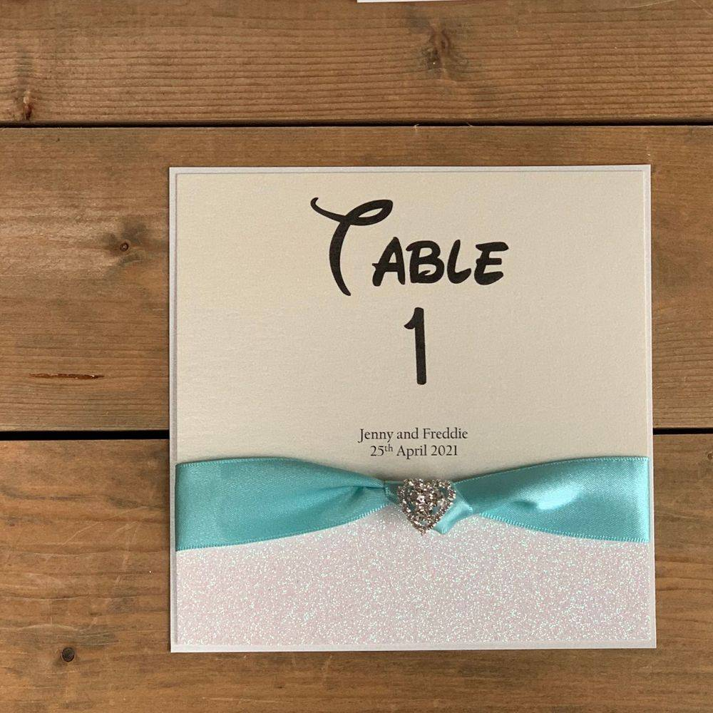 Disney Style Wedding Table Numbers